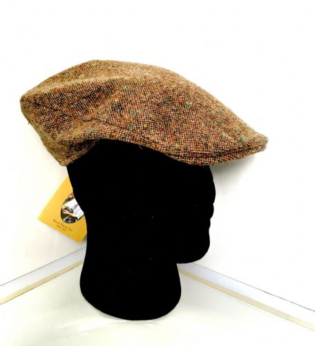 Hanna Hats Irish Tweed Herringbone Peaked Cap - Medium (10)